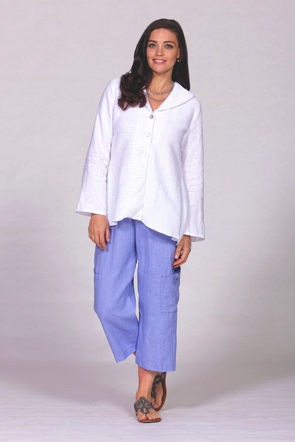 linen pocket pants periwinkle