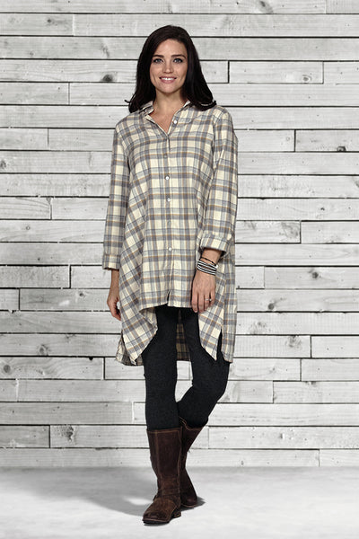 4016 plaid big shirt