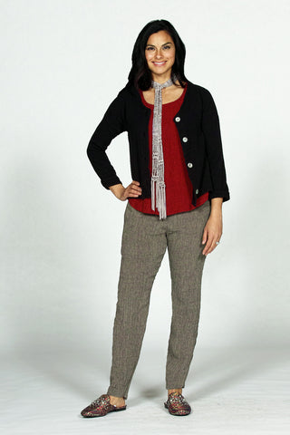 4221 button front gauze cardigan