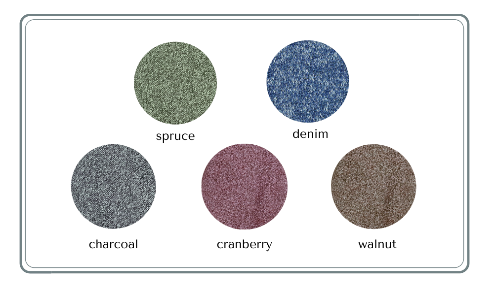 shawl collar jacket color swatches