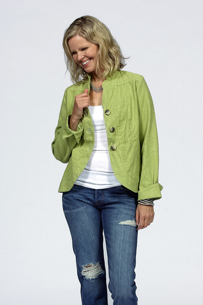 organic cotton jacket in apple