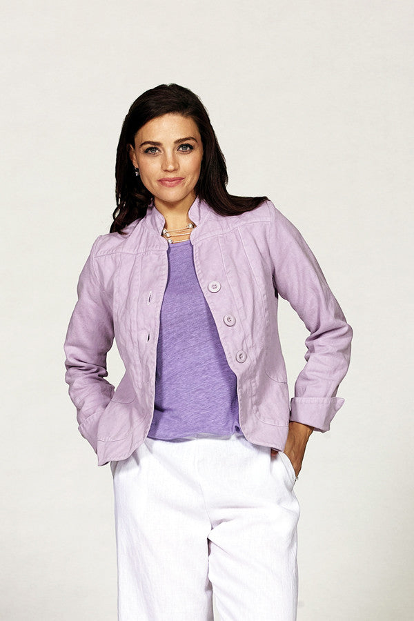 organic cotton jacket in lilac