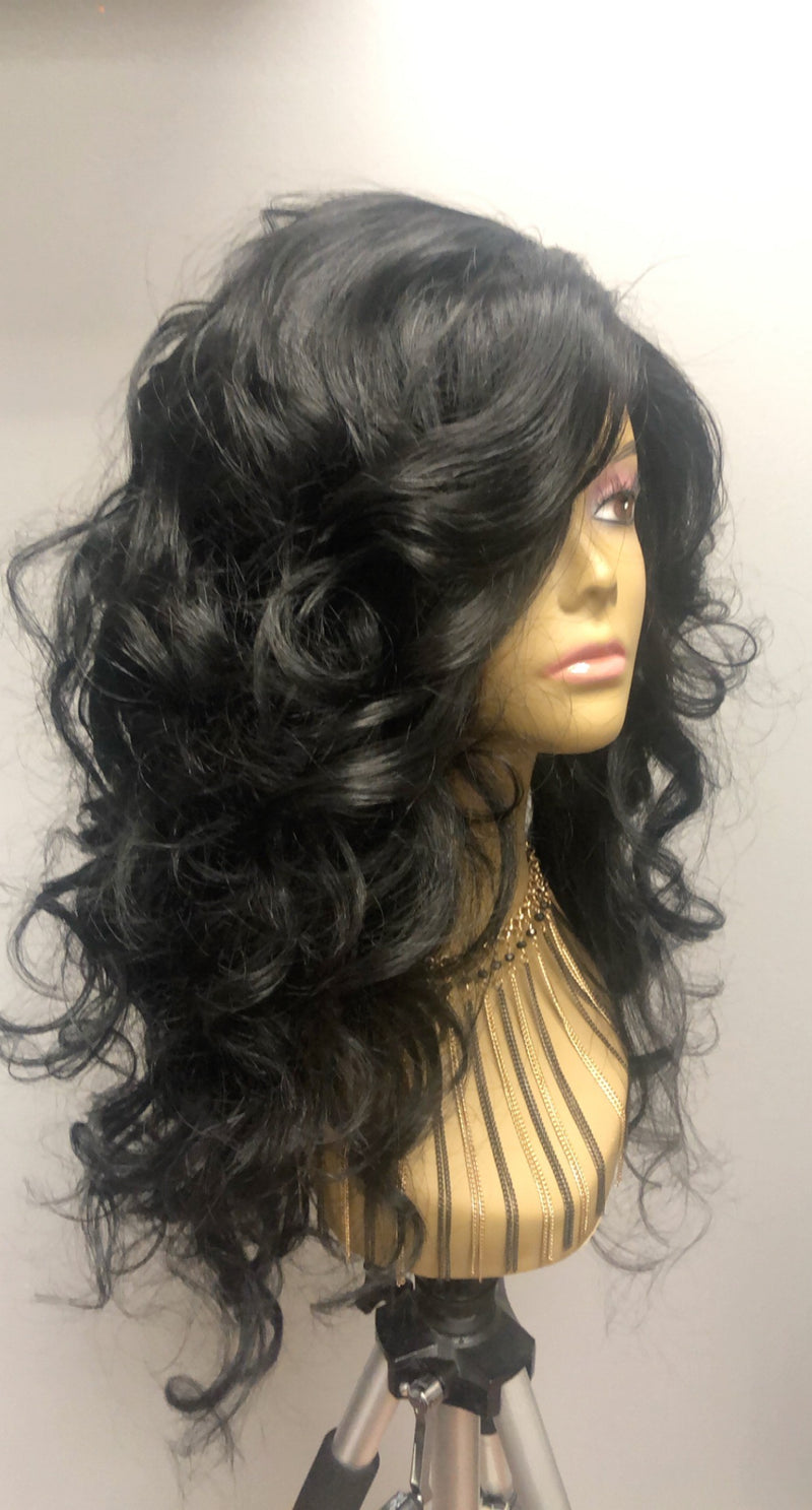 Cambodian Wavy/Curly 5x5 Closure Wig