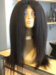 Kinky Straight Closure Wig - Exotic Hair Boutique