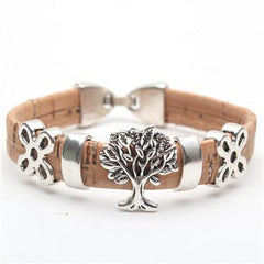 Handmade Tree Of Life Natural Cork Bracelet