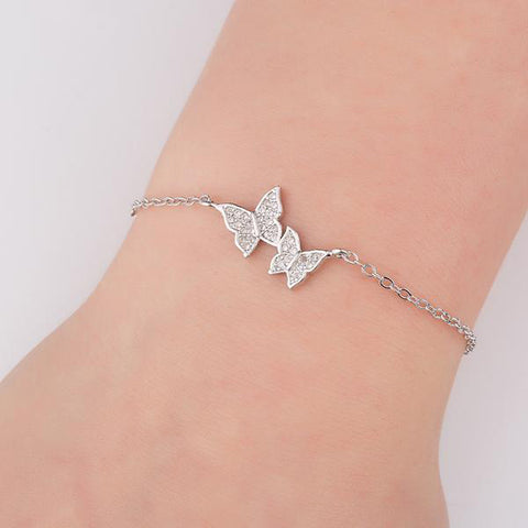 Beautiful Crystal Butterfly Bracelet