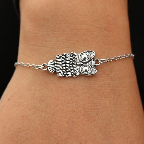 Lovely Bohemian Owl Bracelet And Necklace
