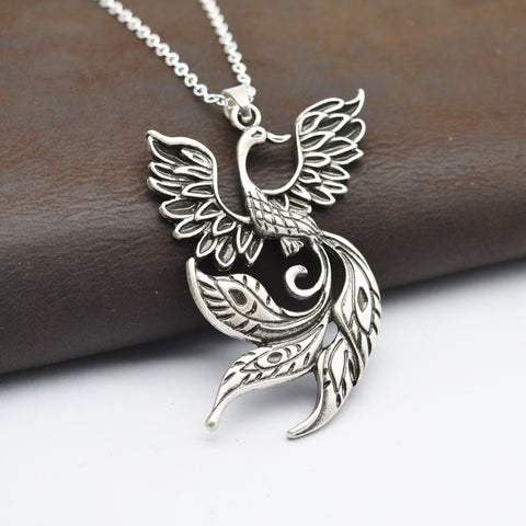 Ancient Fire Bird Pendant Necklace