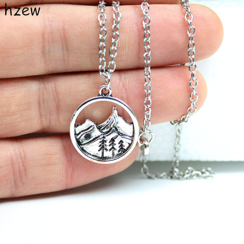 Pine Trees Under The Mountains Necklace