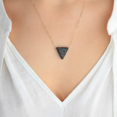 Natural Lava Stone Essential Oil Diffuser Necklace