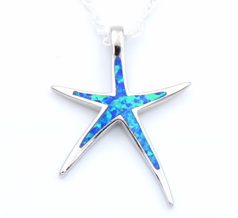 Nature Inspired Starfish Opal Pendant Necklace