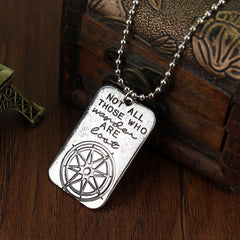 Not All Who Wander Are Lost Wanderlust Necklace