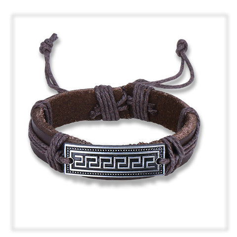 Nature Inspired Leather Bracelet