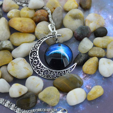 Antique Vintage Moon Necklace