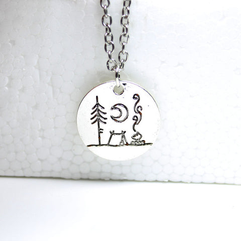 Live The Simple Life Mountain Necklace