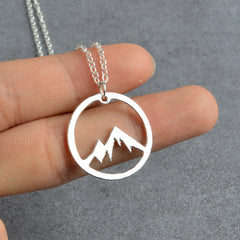 Mountain Range Pendant Necklace