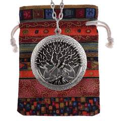 Tree of Life Essential Oil Diffuser Locket Pendant Necklace