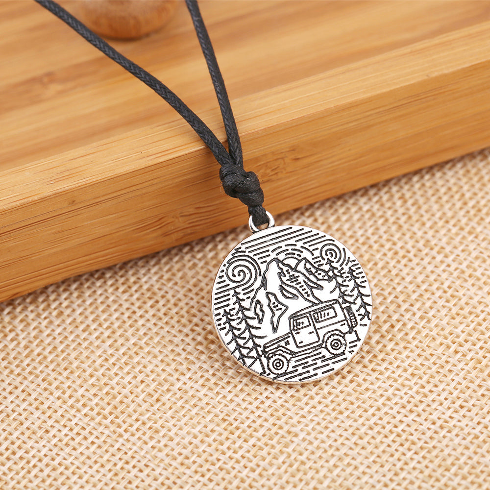 Land Cruiser In The Mountains Pendant Necklace