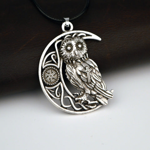 Owl Or Wolf Moon Pendant Necklaces