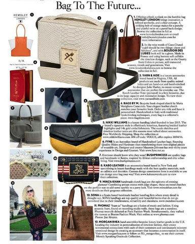 Bag to the Future - British Vogue Feature for Phomaz luxury handbags