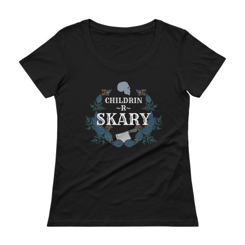 Skary Logo Ladies Scoopneck Tee