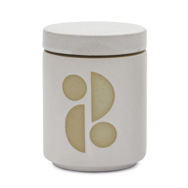 Form White Ceramic Candle- Tobacco Flower