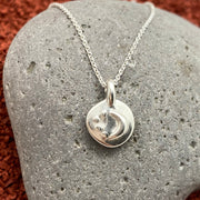 Marisa Mason Virginia Moon Necklace in Sterling Silver