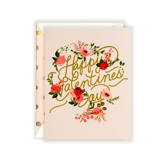 Happy Valentine's Script Greeting Card