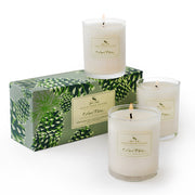Roland Pine Soy Votive Candle Set of 3