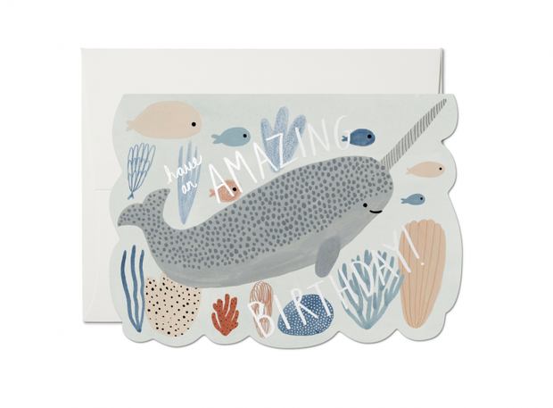 Narwhal Birthday Foil Card