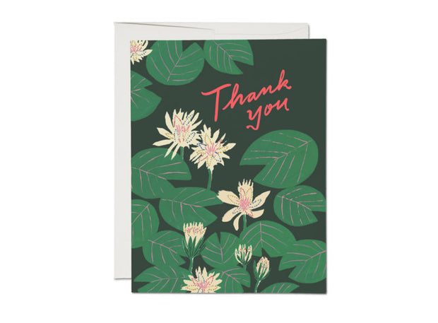 Water Lilies Thank You Card