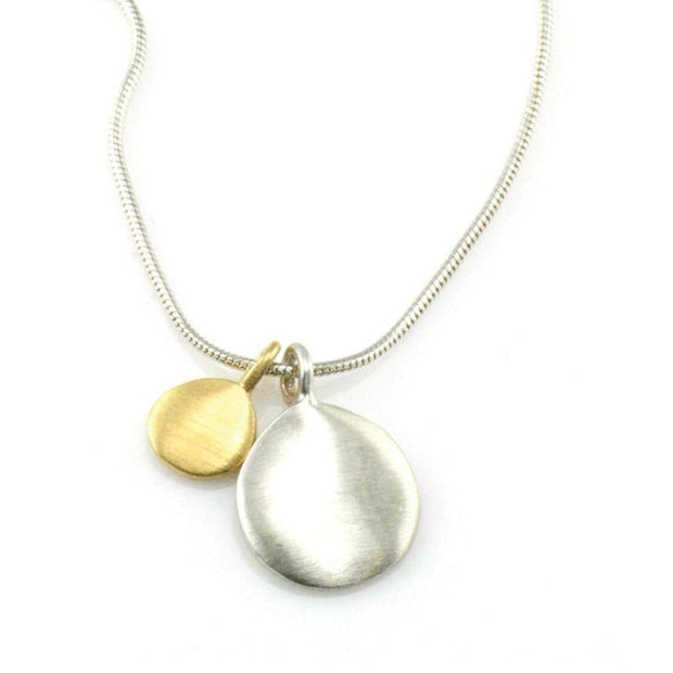Philippa Roberts Gold & Silver Disk Necklace