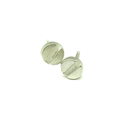 Screw Head Stud Earring in Sterling