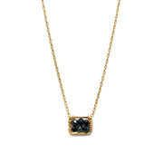Single Box Black Spinel Necklace