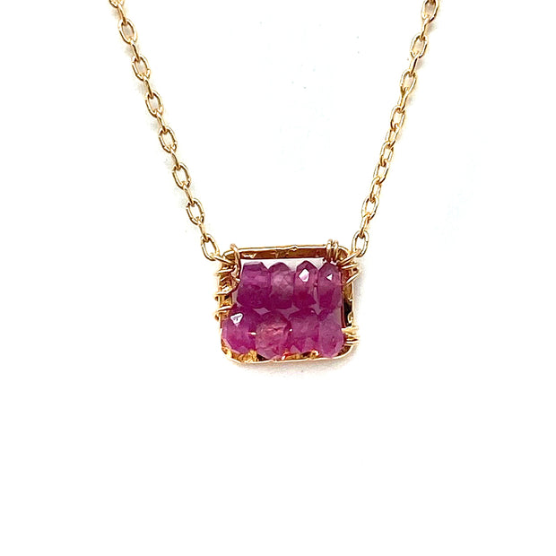 Single Box Pink Sapphire Necklace