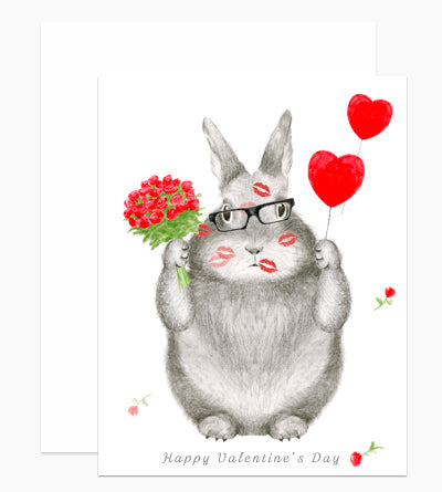 Valentine's Day Kisses Greeting Card