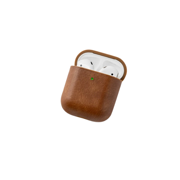 Leather Airpods Case - Saddle