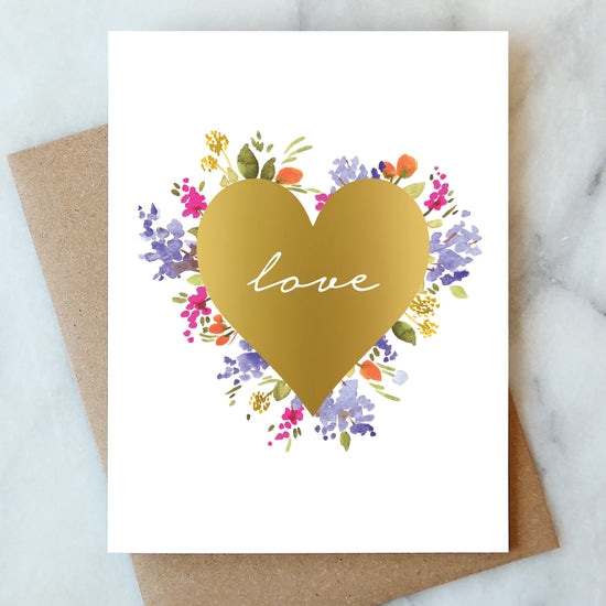Love Floral Greeting Card