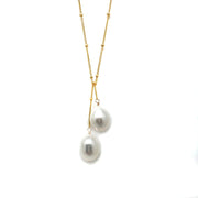 Wasabi Jewelry Lariat Necklace - Pearls