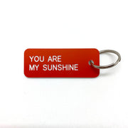 Keytag - You Are My Sunshine- Tangerine/White