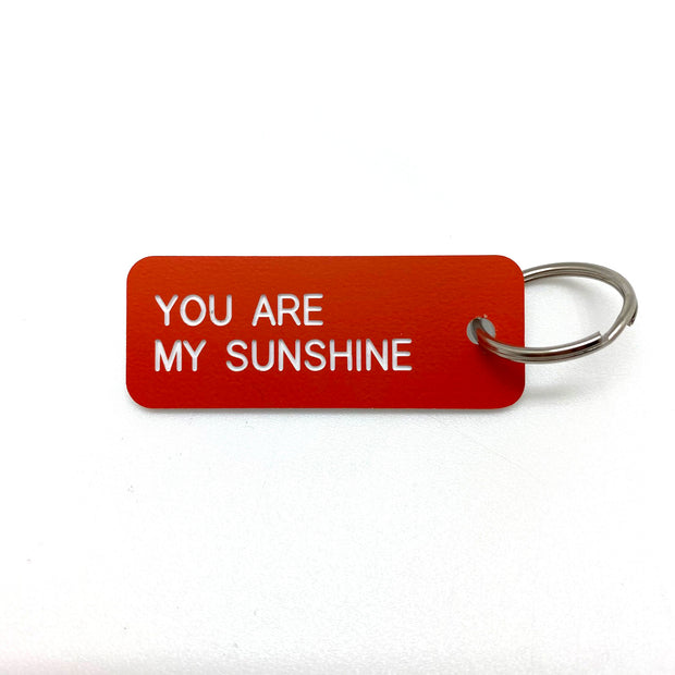 Keytag- You Are My Sunshine- Tangerine/White