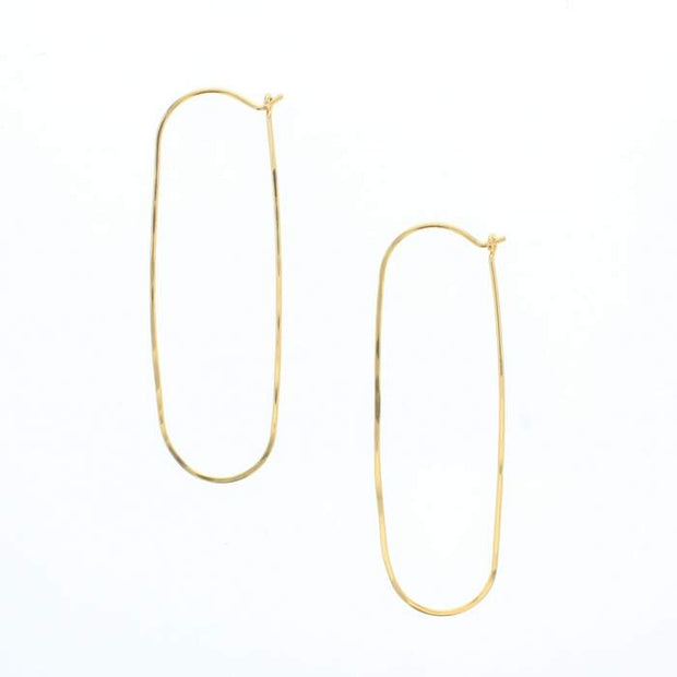 Gold Filled Oval Hoop Earrings