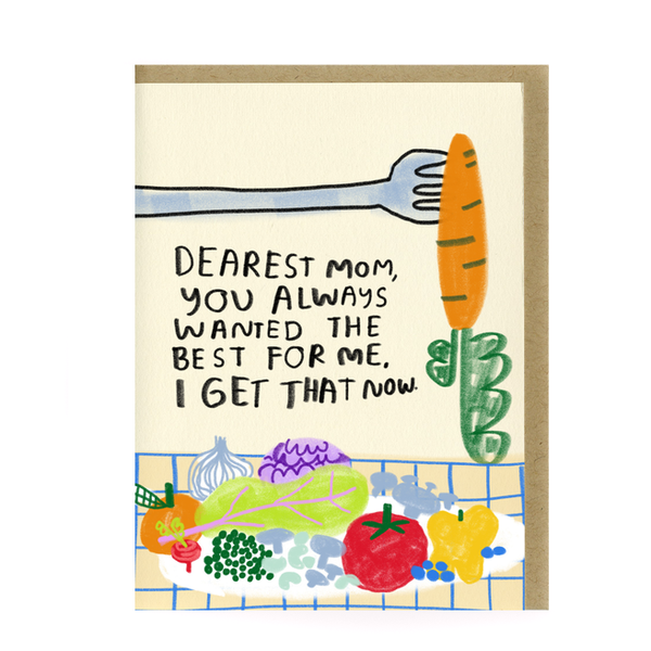 Eat Your Veggies Card