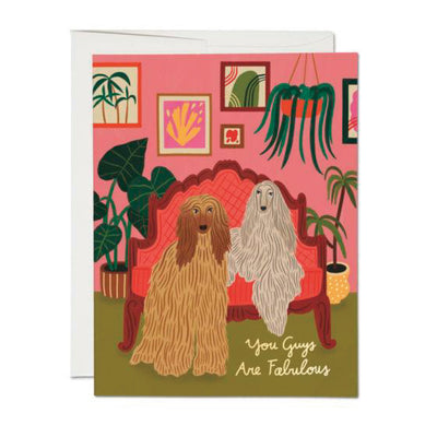 Afghan Dogs Fabulous Card
