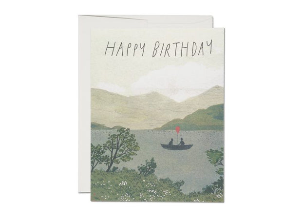 Canoe Birthday Card