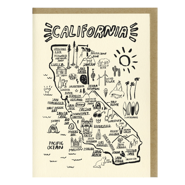 California Map Card