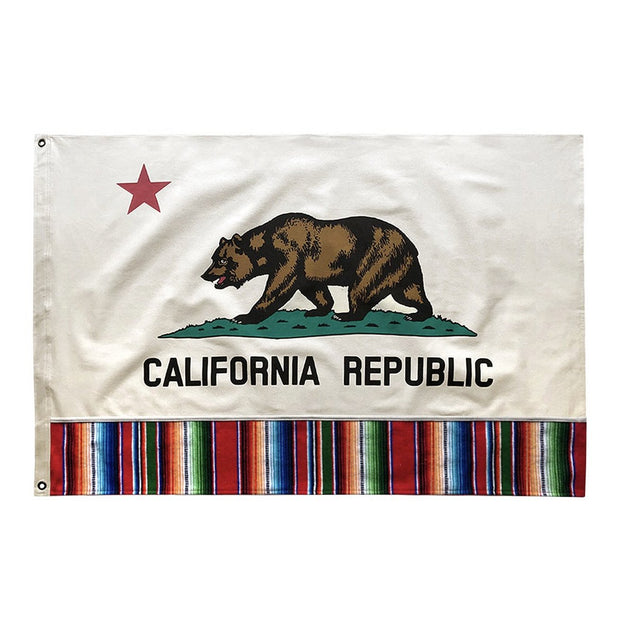 California Flag w/Serape Border- 2'x3'