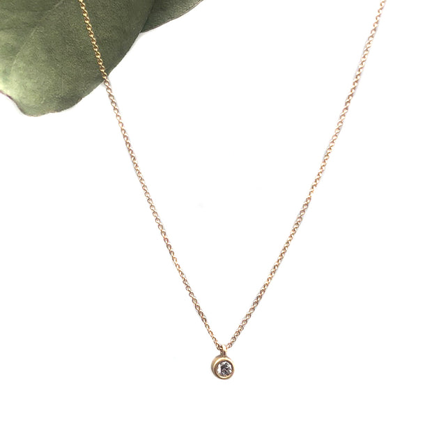 Carla Caruso Diamond Pendant on 14 Karat Gold Chain