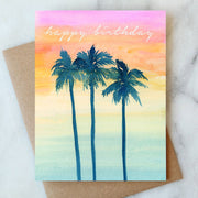 Sunset Birthday Card