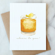 Whiskey Cheers Card